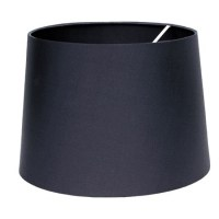 Tapered Drum Shade in Charcoal Silk - Imperial Lighting
